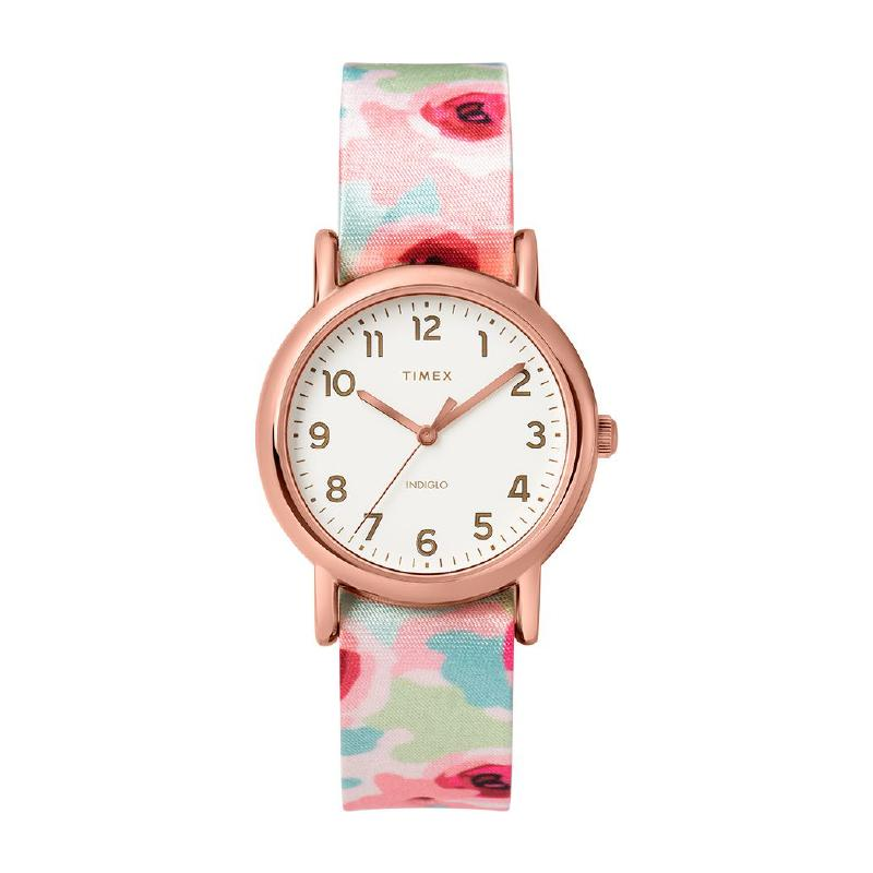 Timex Ladies' Weekender 31mm Floral Fabric Strap Watch TW2T31300