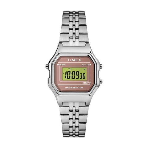 Timex Ladies' Digital Mini 27mm Bracelet Watch TW2T48500