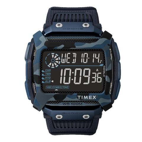 Timex Men's Command Shock 54mm Resin Strap Watch TW5M20500