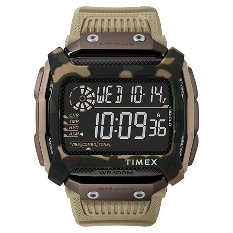 Timex Men's Command Shock 54mm Resin Strap Watch TW5M20600