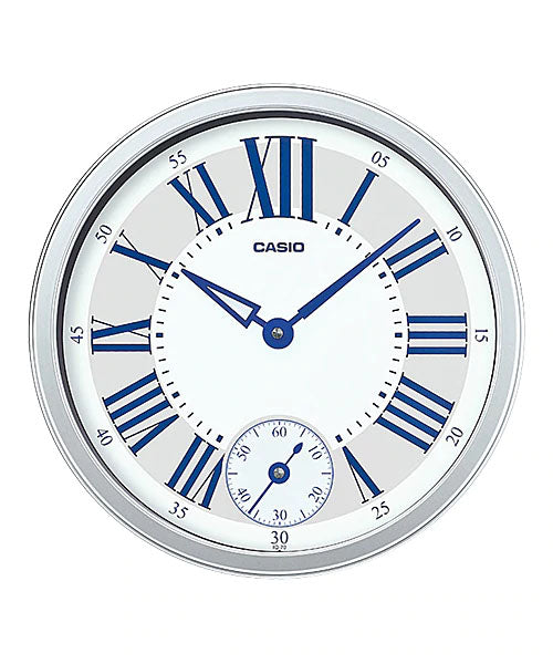 Casio Silver Resin Wall Clock IQ70-8D IQ70-8