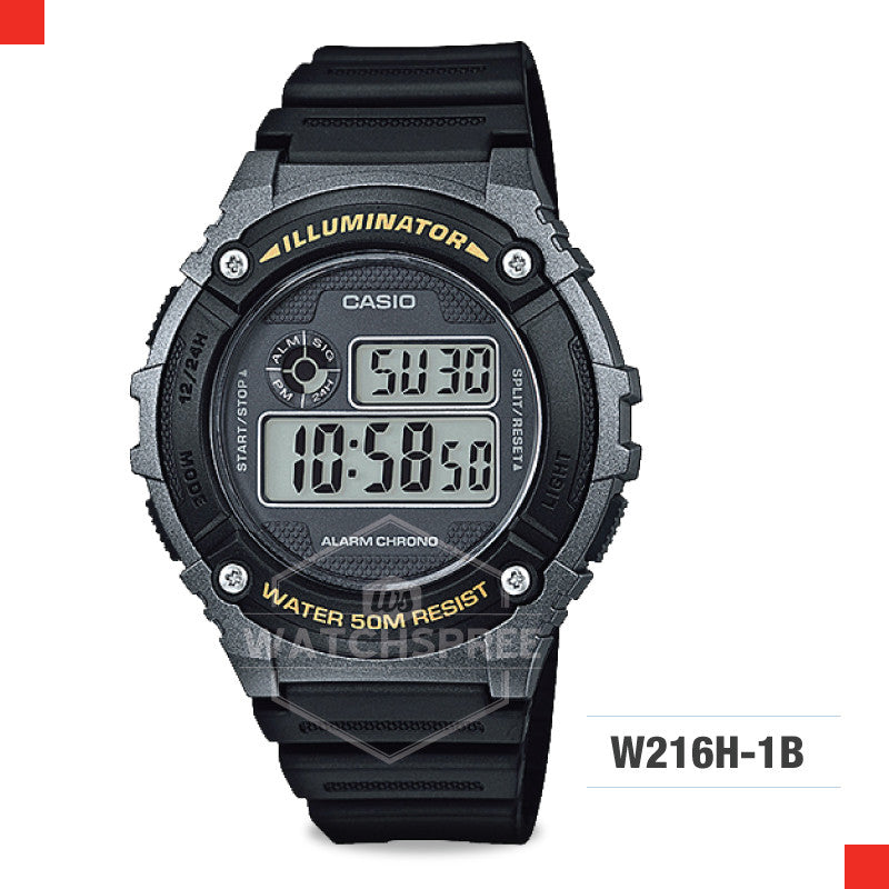 Casio Sports Watch W216H-1B