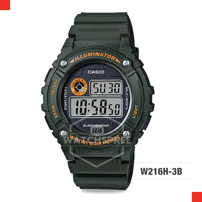 Casio Sports Watch W216H-3B
