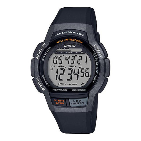 Casio Men's Sports Black Resin Band Watch WS1000H-1A WS-1000H-1A