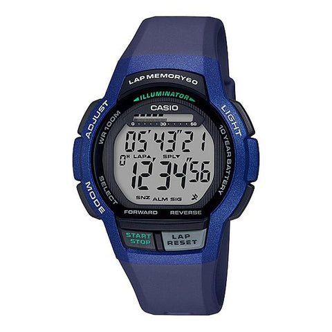 Casio Men's Sports Blue Resin Band Watch WS1000H-2A WS-1000H-2A