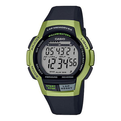 Casio Men's Sports Black Resin Band Watch WS1000H-3A WS-1000H-3A