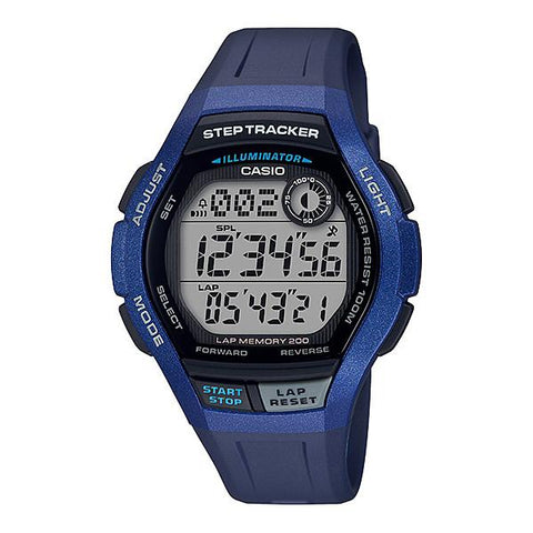 Casio Men's Sports Step Tracker Blue Resin Band Watch WS2000H-2A WS-2000H-2A