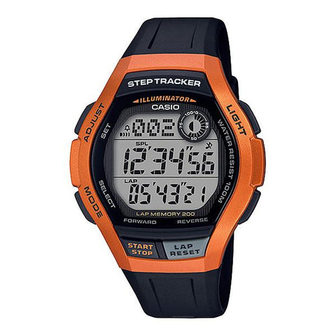 Casio Men's Sports Step Tracker Black Resin Band Watch WS2000H-4A WS-2000H-4A