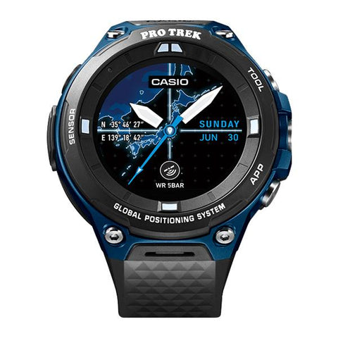 Casio Protrek Smart Ourdoor Black Resin Band Watch WSDF20A-BU WSD-F20A-BU