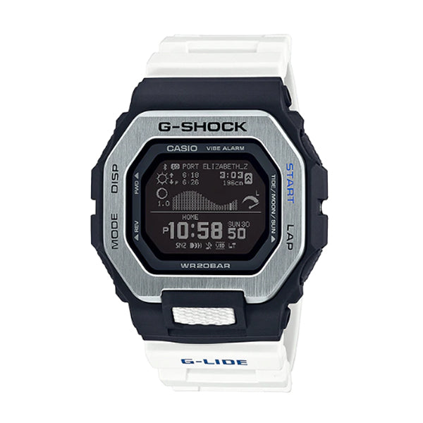 Casio G-Shock G-LIDE lineup White Resin Band Watch GBX100-7D GBX-100-7