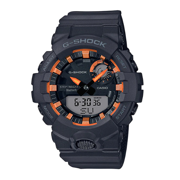 Casio G-Shock G-SQUAD Bluetooth® Black Resin Band Watch GBA800SF-1A GBA-800SF-1A
