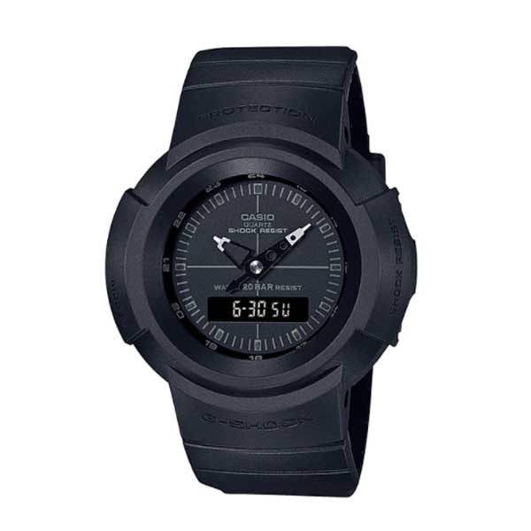Casio G-Shock Analog-Digital Classic AW-500 Series Black Resin Strap Watch AW500BB-1E AW-500BB-1E