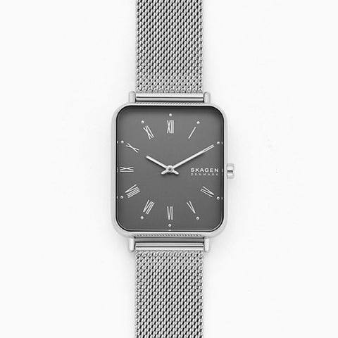 Skagen Men's Ryle Two Hand Silver Tone Steel Mesh Watch SKW6619