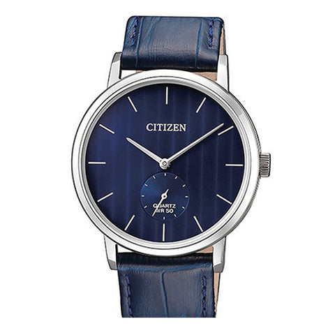 Citizen Quartz Blue Leather Strap Watch BE9170-05L