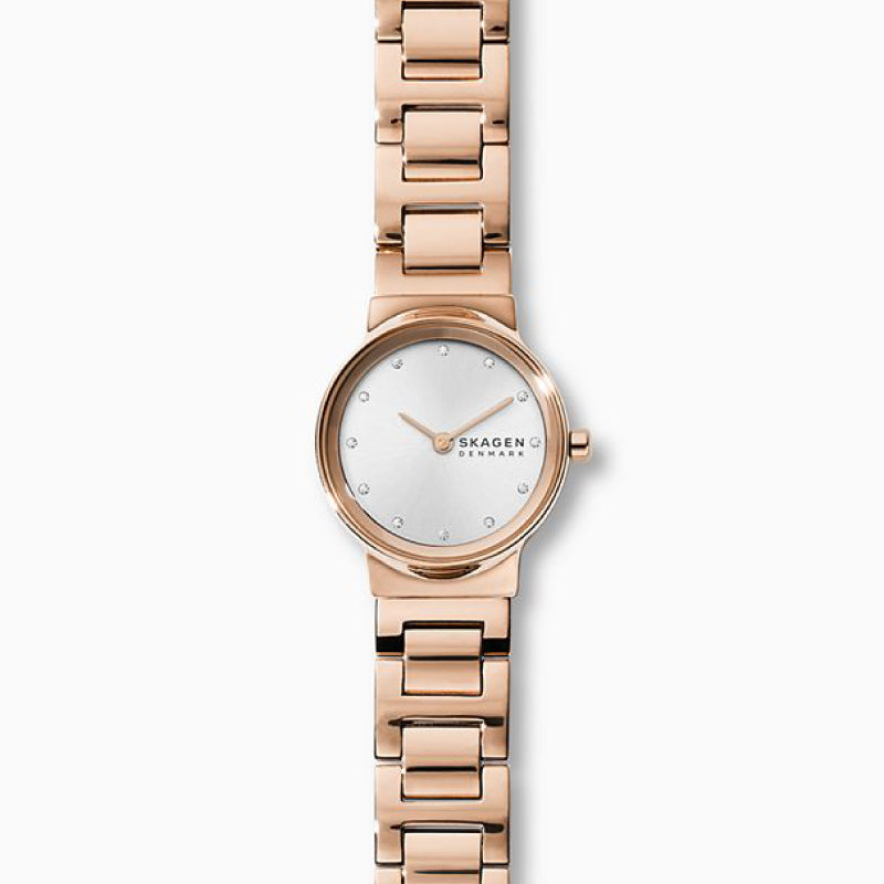 Skagen Ladies' Freja Rose Gold Tone Steel Link Watch SKW2791