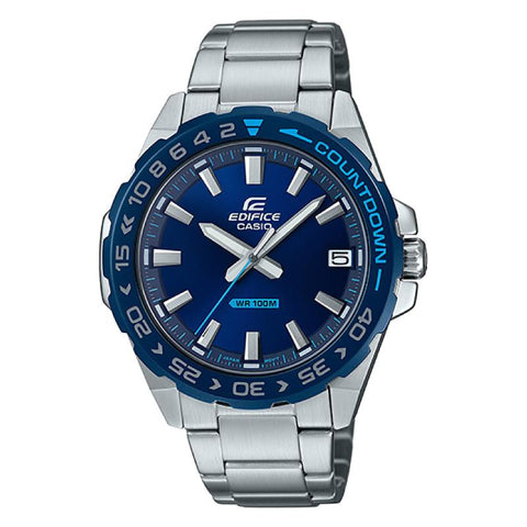 Casio Edifice Silver Stainless Steel Band Watch EFV120DB-2A EFV-120DB-2A | Watchspree