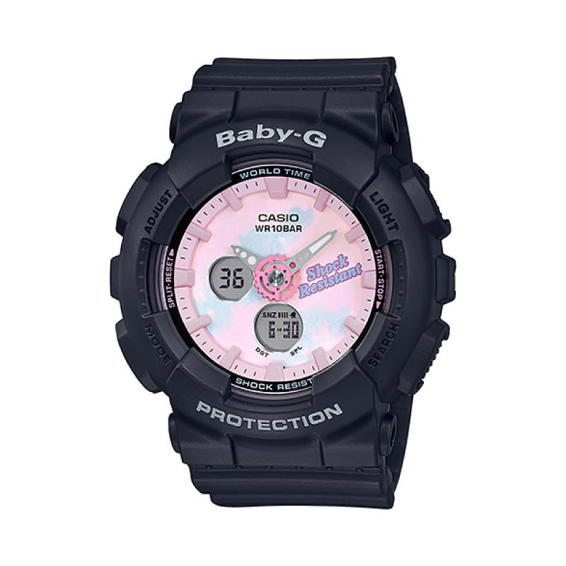 Casio Baby-G Standard Analog-Digital Beach Fashions Black Resin Band Watch BA120T-1A BA-120T-1A | Watchspree