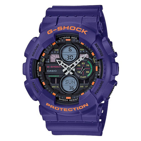 Casio G-Shock Standard Analog-Digital GA series Purple Resin Band Watch GA140-6A GA-140-6A | Watchspree