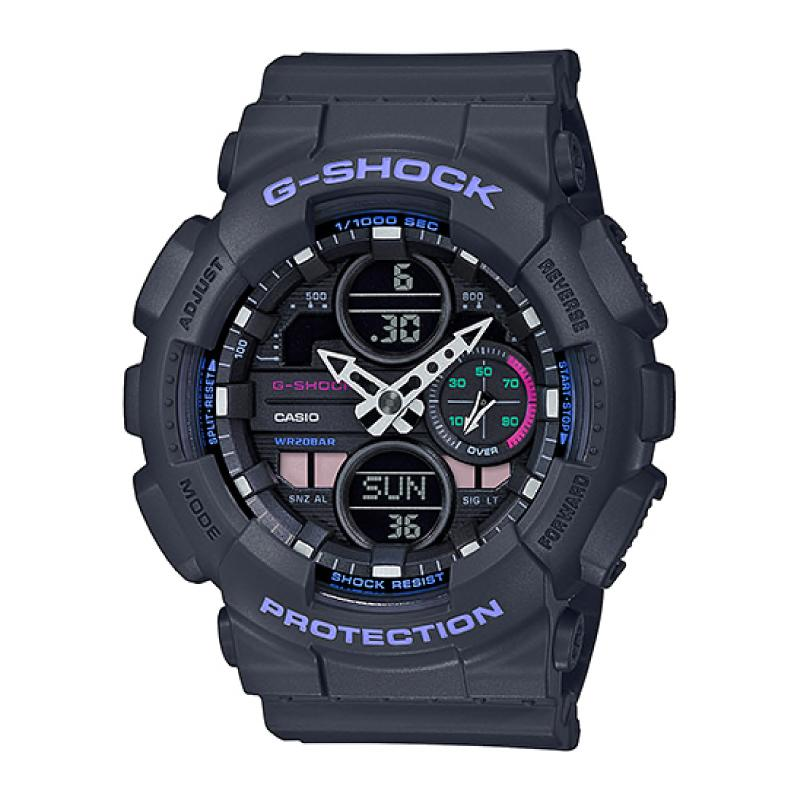Casio G-Shock S Series GMA-S140 Lineup Grey Resin Band Watch GMAS140-8A GMA-S140-8A
