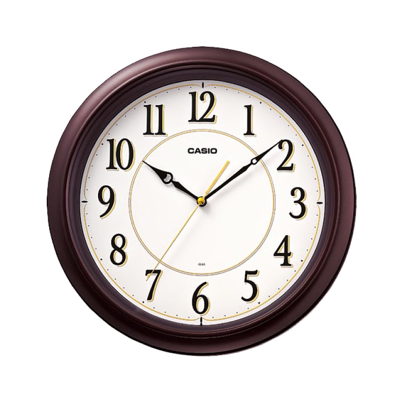 Casio Brown Resin Wall Clock IQ60-5D IQ-60-5D IQ-60-5