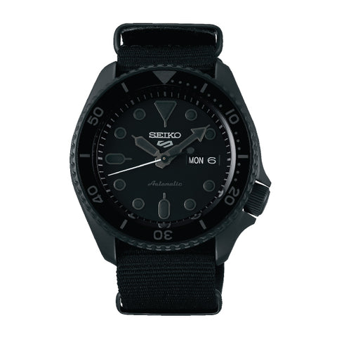 Seiko 5 Sports Automatic Black Nylon Strap Watch SRPD79K1