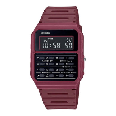 Casio Data Bank Calculator Red Resin Band Watch CA53WF-4B CA-53WF-4B