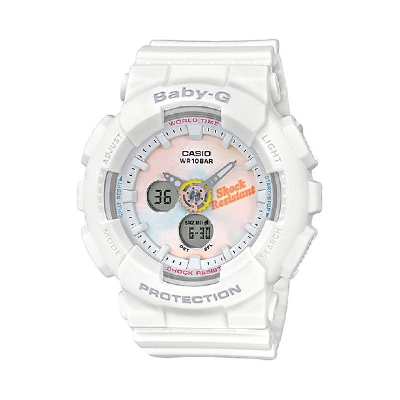 Casio Baby-G Standard Analog-Digital Beach Fashions White Resin Band Watch BA120T-7A BA-120T-7A | Watchspree