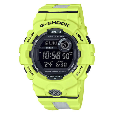 Casio G-Shock G-SQUAD Bluetooth¨ GBD-800 Series Yellow Resin Band Watch GBD800LU-9D GBD-800LU-9D GBD-800LU-9