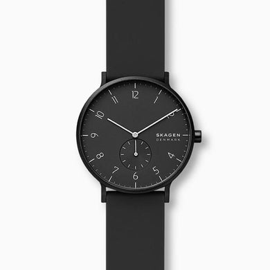 Skagen Aaren Kulor Black Silicone 41mm Watch SKW6544