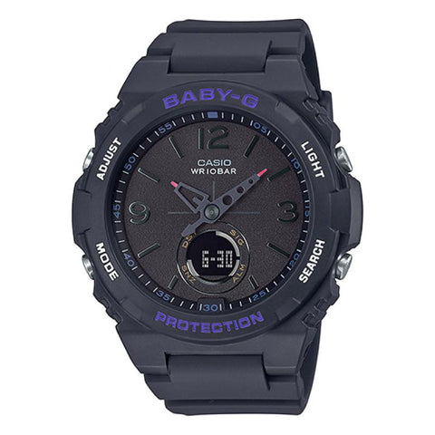 Casio Baby-G Standard Analog-Digital Black Resin Band Watch BGA260-1A BGA-260-1A