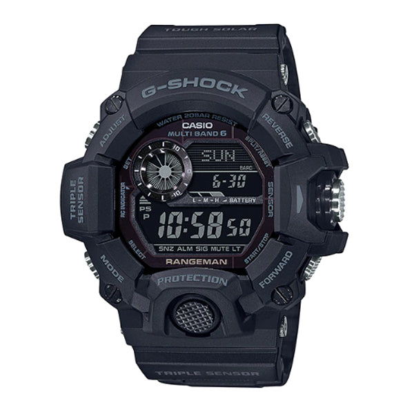 Casio G-Shock Master of G Rangeman Blackout Black Resin Band Watch GW9400-1B GW-9400-1B
