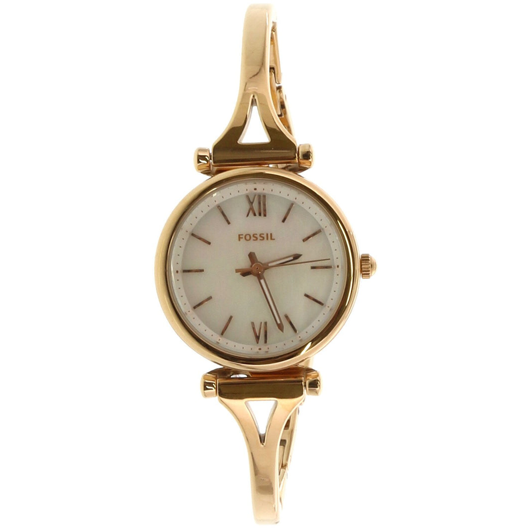 Fossil Ladies' Carlie Mini Three-Hand Rose Gold-Tone Stainless Steel Watch ES4500