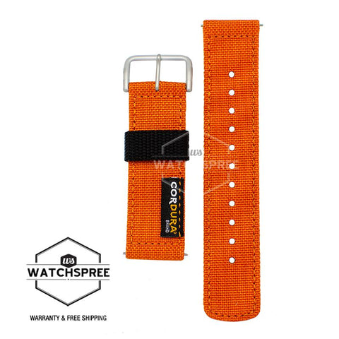Casio G-Shock GA-2000 Series Replaceable Orange Cordura Cloth Band BANDGS01BC-4D BANDGS01BC-4