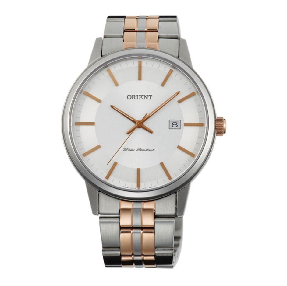 Orient Men's Quartz Two Tone Stainless Steel Strap Watch FUNG8001W0  | Watchspree