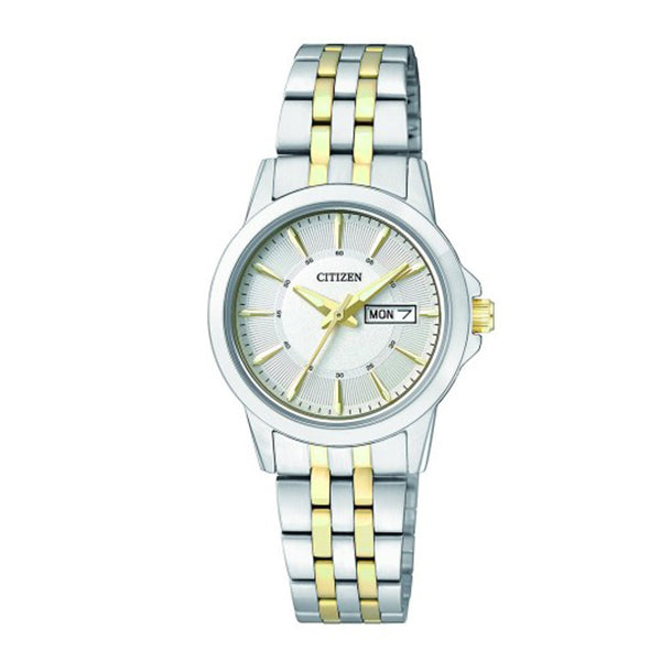 Citizen Ladies' Quartz Two-Tone Stainless Steel Band Watch EQ0608-55A