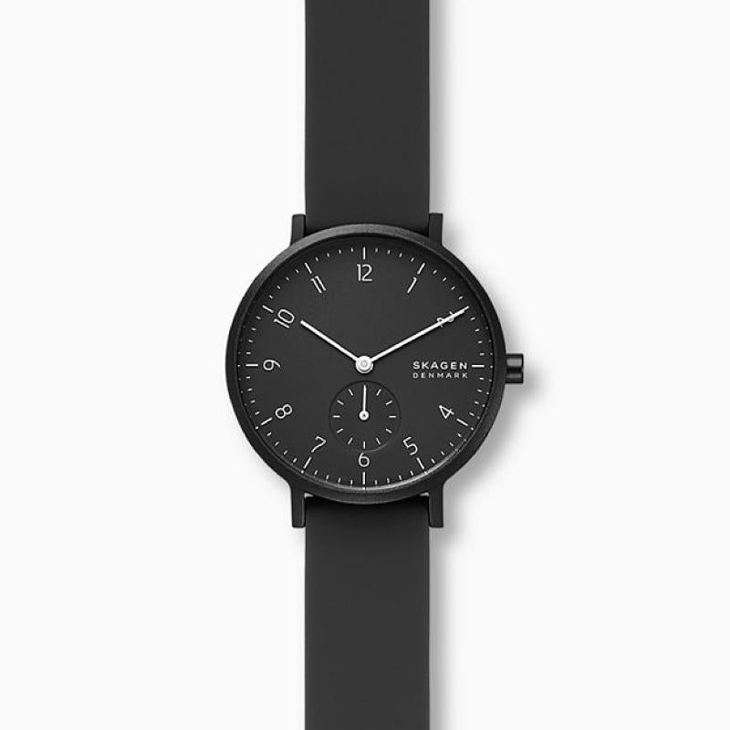 Skagen Aaren Kulor Black Silicone 36mm Watch SKW2801