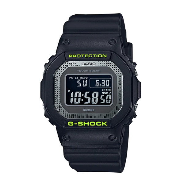 Casio G-Shock Bluetooth® Multi Band 6 Tough Solar Special Colour Model Black Resin Band Watch GWB5600DC-1D GW-B5600DC-1