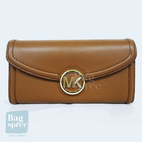 Michael Kors Fulton Large Flap Continental Wallet Brown 35F9GFTE3L LUGGAGE