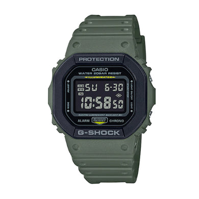 Casio G-Shock DW5600 Special Colour Series Green Resin Band Watch DW5610SU-3D DW-5610SU-3