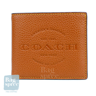Coach Double Billfold Wallet Brown F24647 SAD