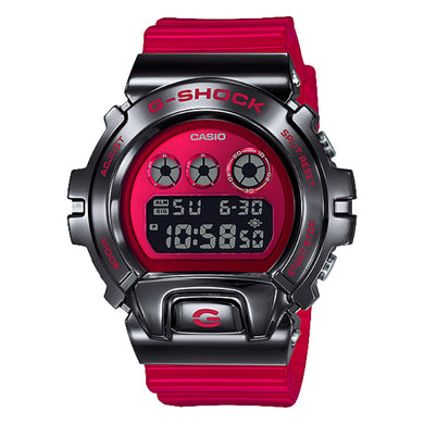Casio G-Shock Standard Digital Metal-Covered Bezel Red Resin Band Watch GM6900B-4D GM-6900B-4D GM-6900B-4