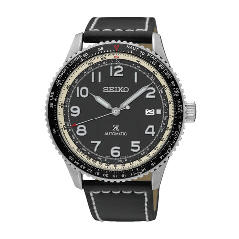 Seiko Prospex (Japan Made) Automatic Black Calfskin Leather Strap Watch SRPB61K1 | Watchspree