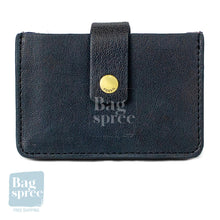 Load image into Gallery viewer, Fossil Mini Tab Navy Multi Leather Wallet Navy SL7455406