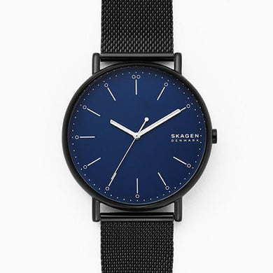 Skagen Men's Signature Black Steel Mesh Watch SKW6529