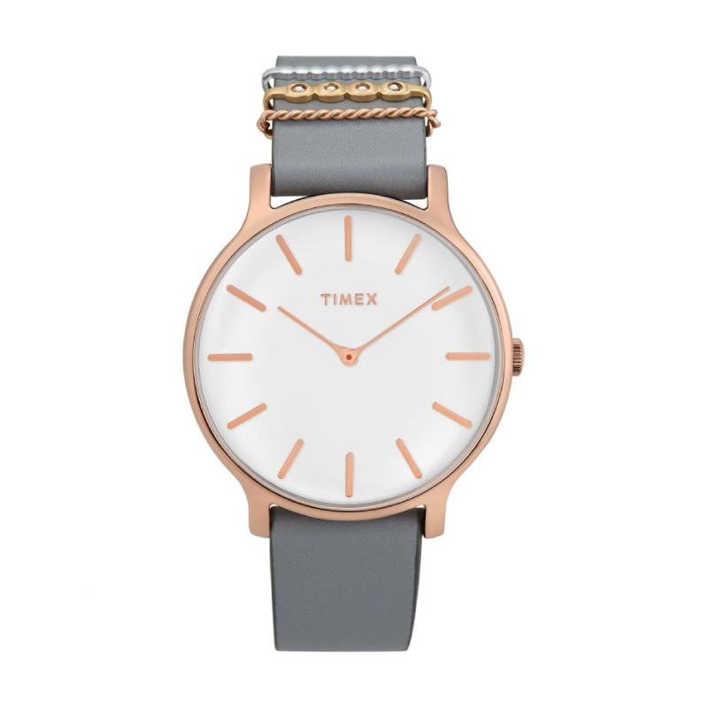Timex Ladies' Transcend 38mm Leather Strap Watch TW2T45400