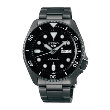 Load image into Gallery viewer, Seiko 5 Sports Automatic Black Stainless Steel Band Watch SRPD65K1