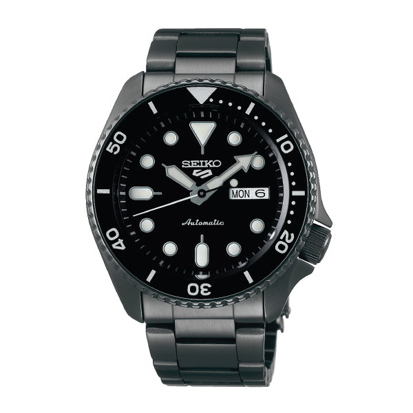 Seiko 5 Sports Automatic Black Stainless Steel Band Watch SRPD65K1
