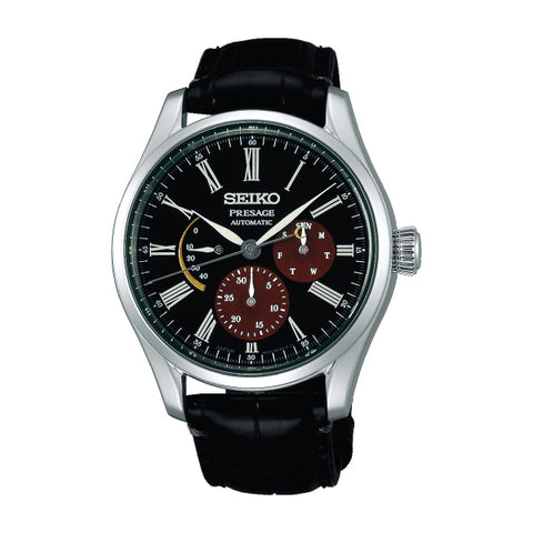 Seiko Presage (Japan Made) Automatic Prestige Line The Urushi Byakudan-nuri Limited Edition Black Crocodile Leather Strap Watch SPB085J1 ?????? ????????? ????? | Watchspree