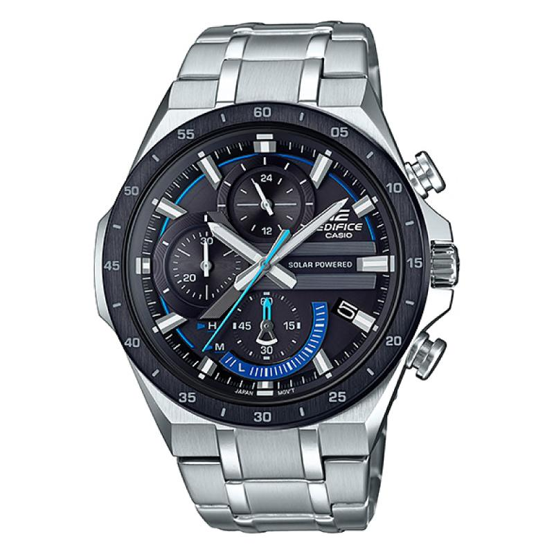 Casio Edifice Solar-Powered Chronograph Silver Stainless Steel Band Watch EQS920DB-1B EQS-920DB-1B | Watchspree