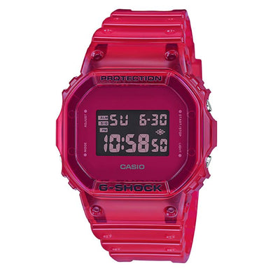 Casio G-Shock DW-5600 Lineup Special Color Models Red Semi-Transparent Resin Band Watch DW5600SB-4D DW-5600SB-4D DW-5600SB-4